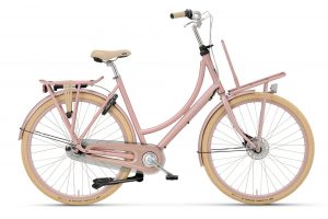 Batavus Diva damesfiets in de kleur roze