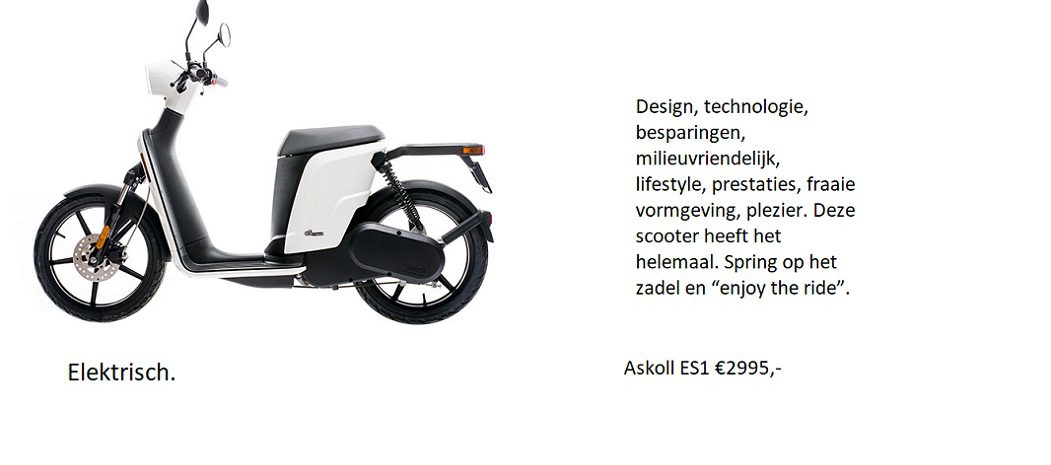 elektrische scooter askoll